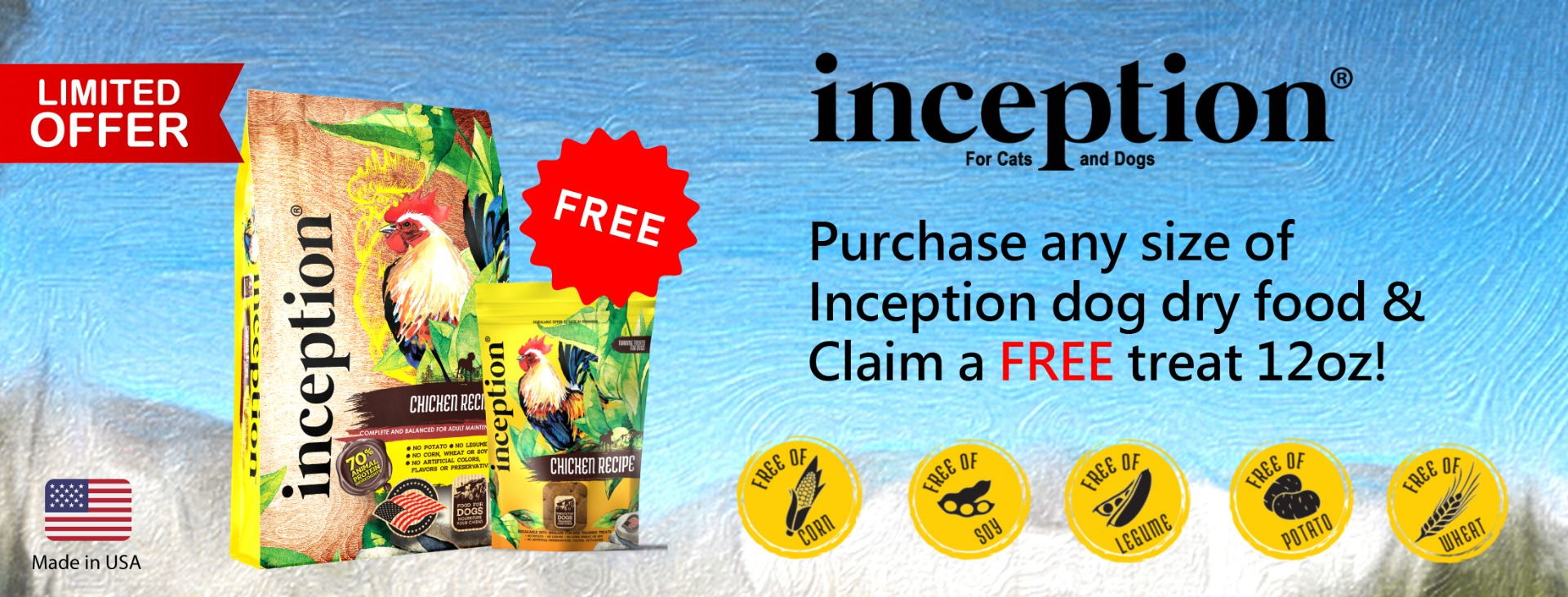 Free Inception Dog Treat